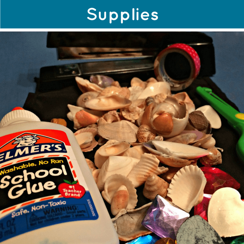 supplies for pirate valentines box